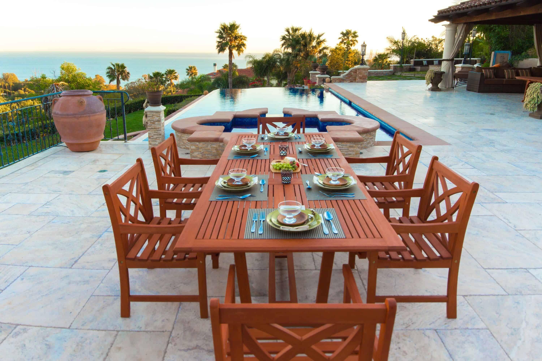 40+ Malibu 7 piece wood rectangle outdoor dining set Tips
