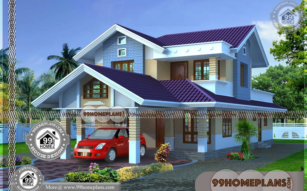 25 Lakhs Budget House Plans Kerala With Double Floor Home Design Plans Having 2 Floor 4 Total Be Budget House Plans Kerala House Design Two Story House Design Low budget house plan in kerala