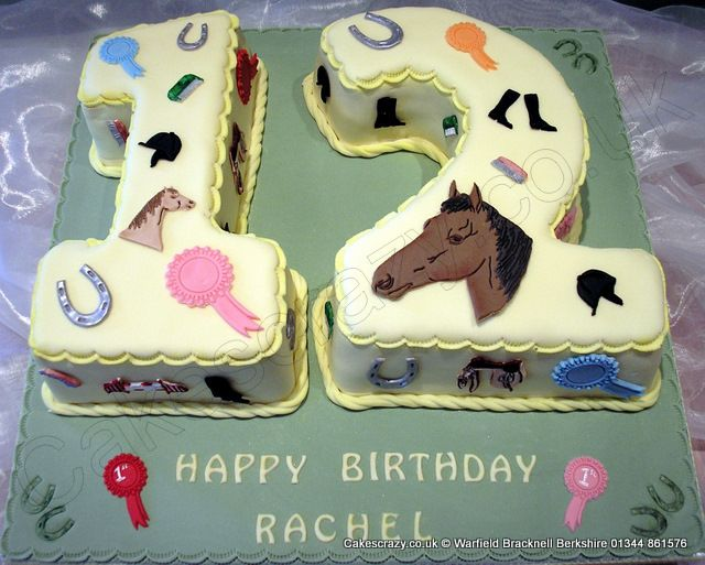 Number 12 Cake Horses Numerical Horse And Pony Themed