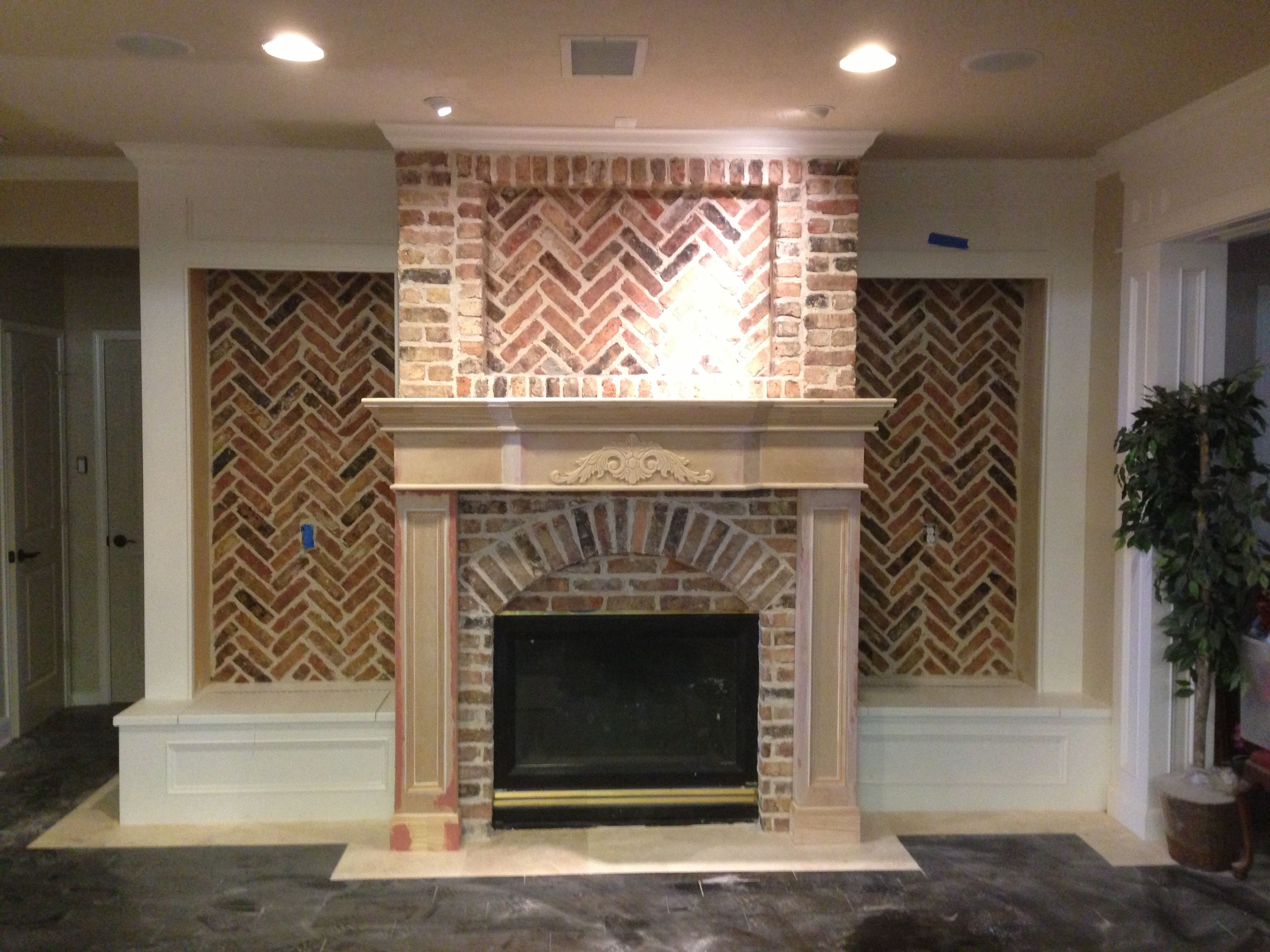 Old Chicago Brick W Custom Mantle House Rooms French