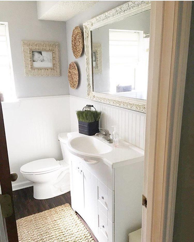 Farmhouse bathroom remodel on a budget behr paint colors