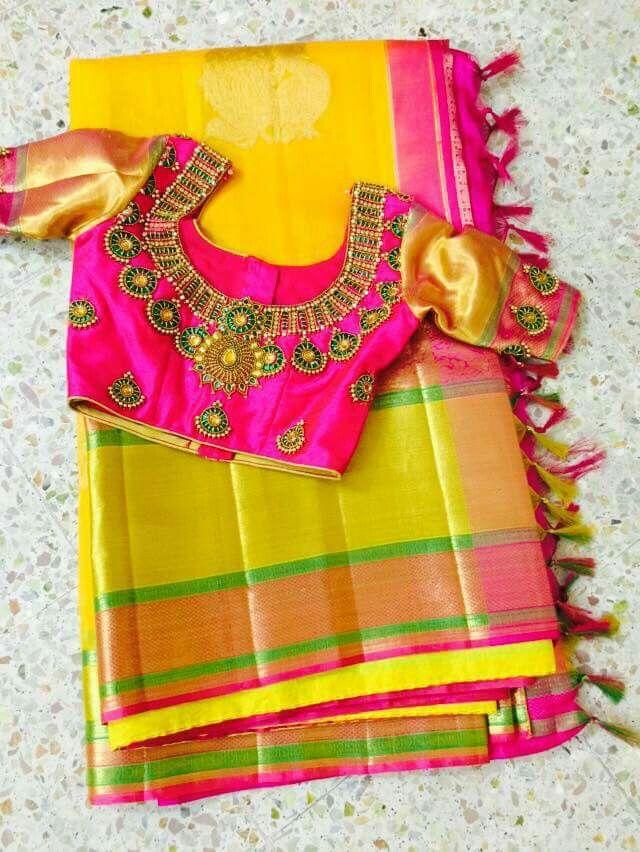Pin By Priya Gunasekkaran On Saree Blouses Pinterest Blouse