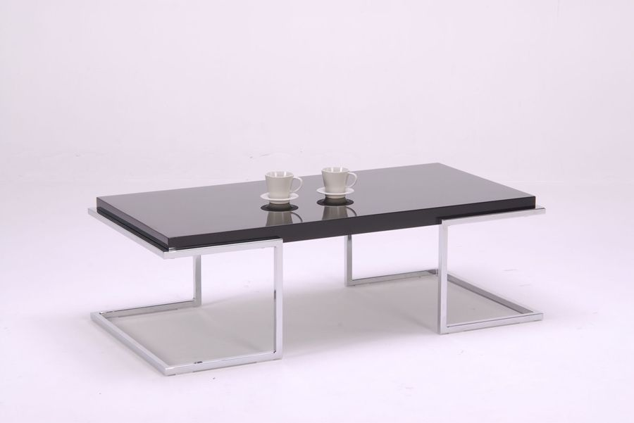 Is A Modern Style High Gloss Coffee Table Set With Solid Surface Top Made Of Acrylic Artificial Stone And Steel By Tell World