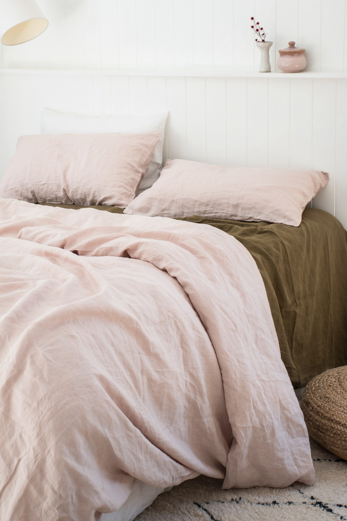 Nothing Beats Blush Olive 100 Pure French Flax Linen Bedding Sourced From France And Delivered Direct To Y White Linen Sheets Bedroom Bliss Room Furnishing