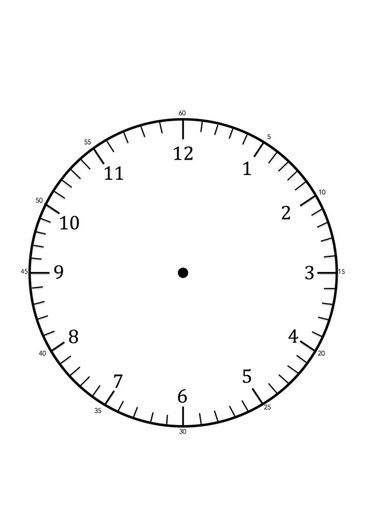 Free printable Clock face template for learning to tell the time - clock templates