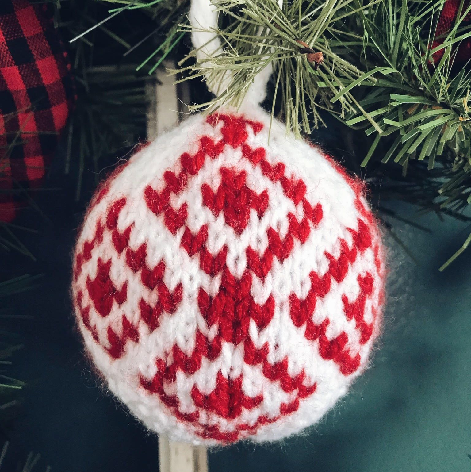 Nordic Knitted Christmas Ornaments - Scandinavian Inspired Round ...