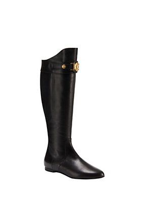 81928f2dd7a Versace - Signature Flat Boots I Would love to own a pair of these!!!  #dreambig