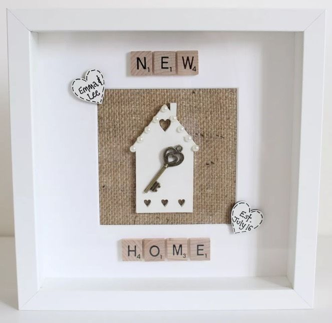 First Home Decorating: Personalised First New Home Frame Housewarming Gift