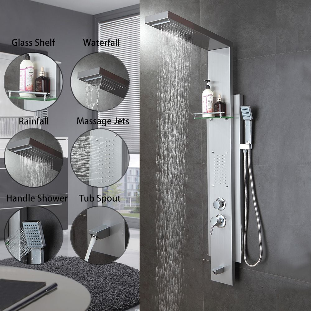 Multi-Function Shower Panel Bathroom Shower Faucet Rain Massage ...