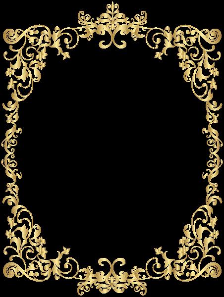 Border Gold Decorative Frame Png Clip Art Molduras Para Convites De Casamento Bordas Para Certificados Borda Para Convite