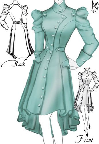 Victorian Spring Trench Coat by Amber Middaugh | Dresses | Pinterest ...