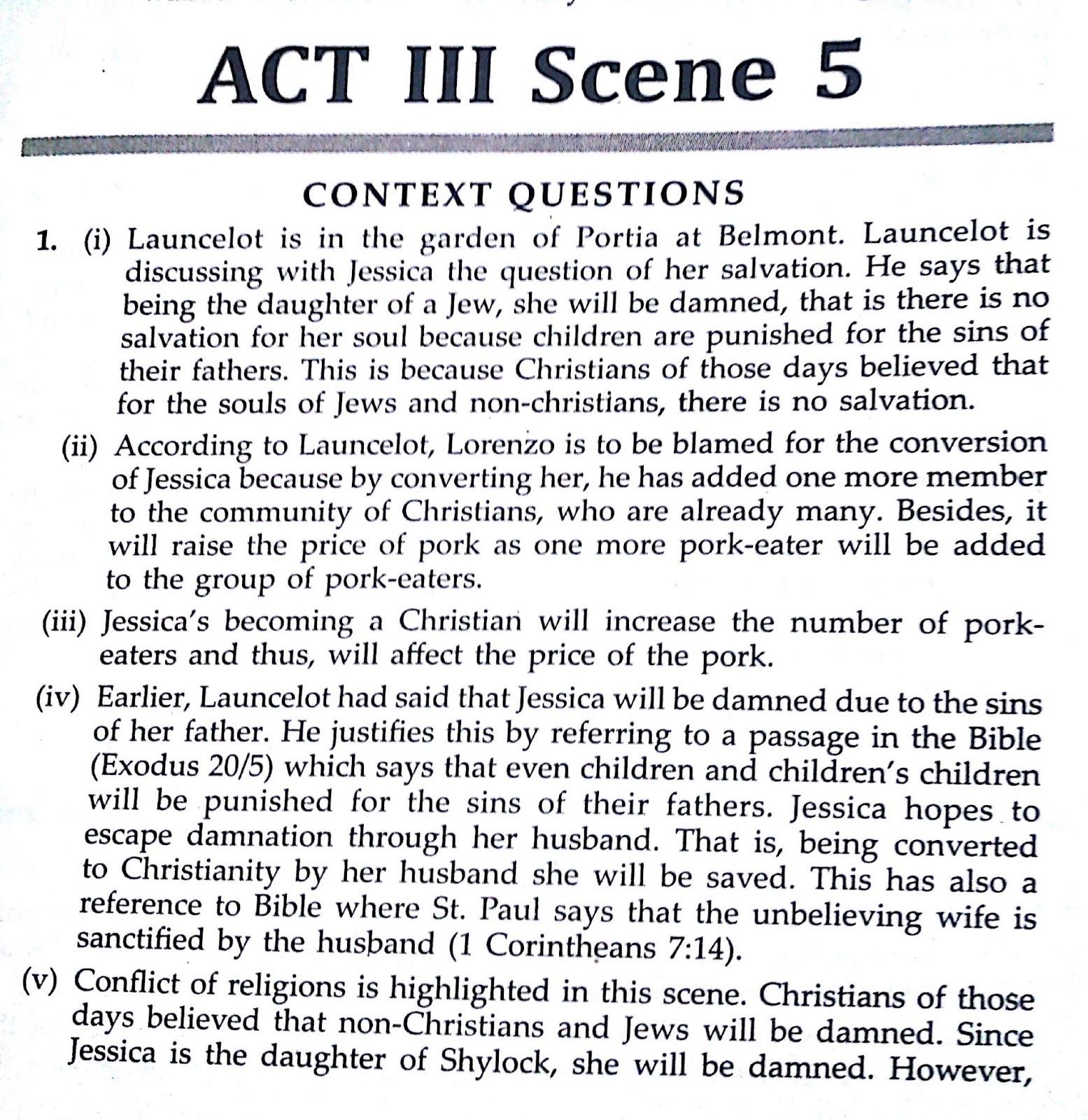 Solved Textbook Workbook Answer Solution Of The Merchant Veni Venice Act 3 Scene 4 Analysis