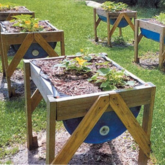 Build Raised Garden Beds From 55 Gallon Plastic Barrels Farm And