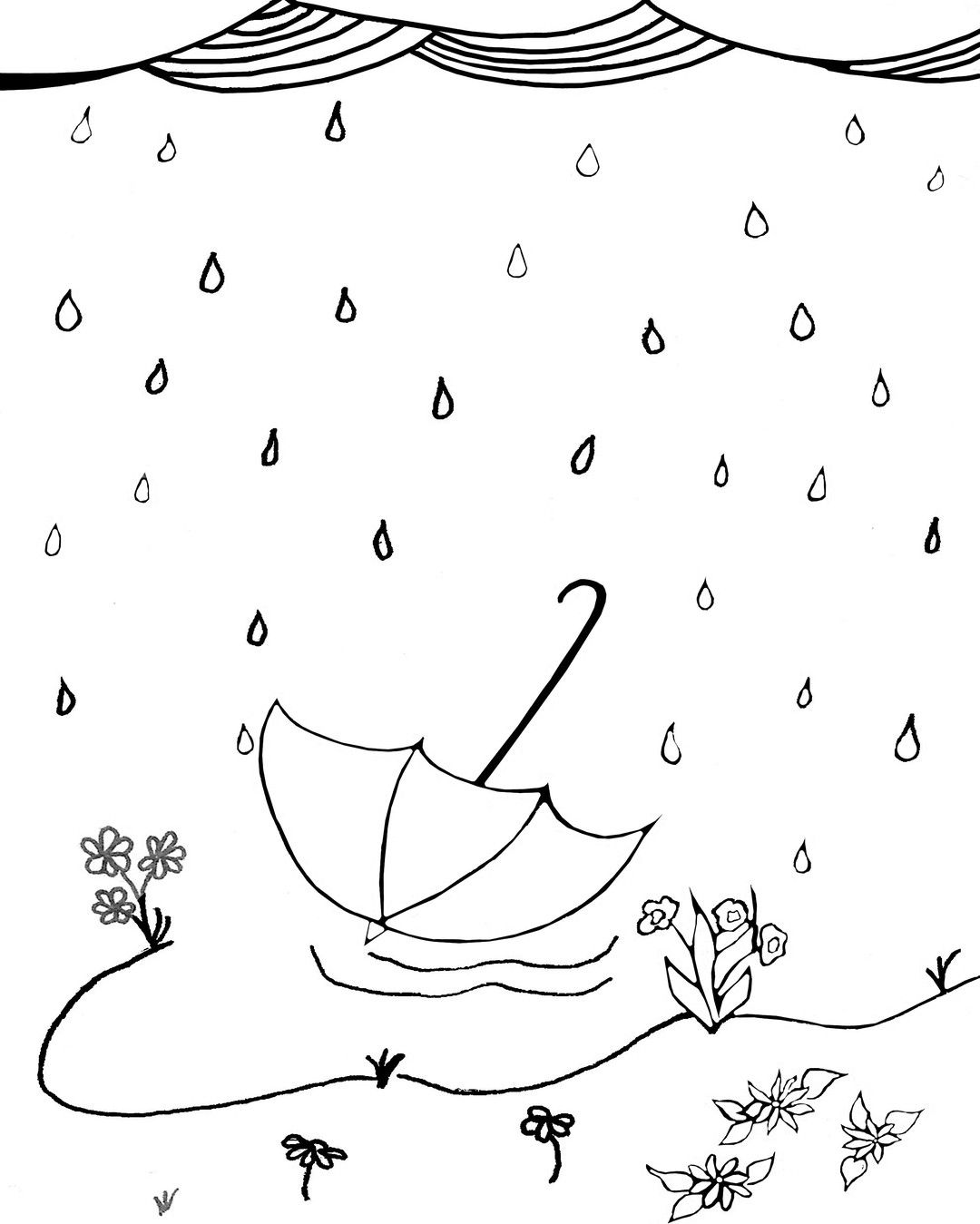 47+ Rainy day coloring pages for adults ideas