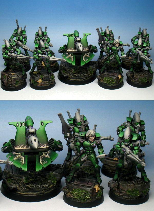 Warhammer 40K Aeldari Craftworlds Guardian Squad with Heavy Weapon Platform