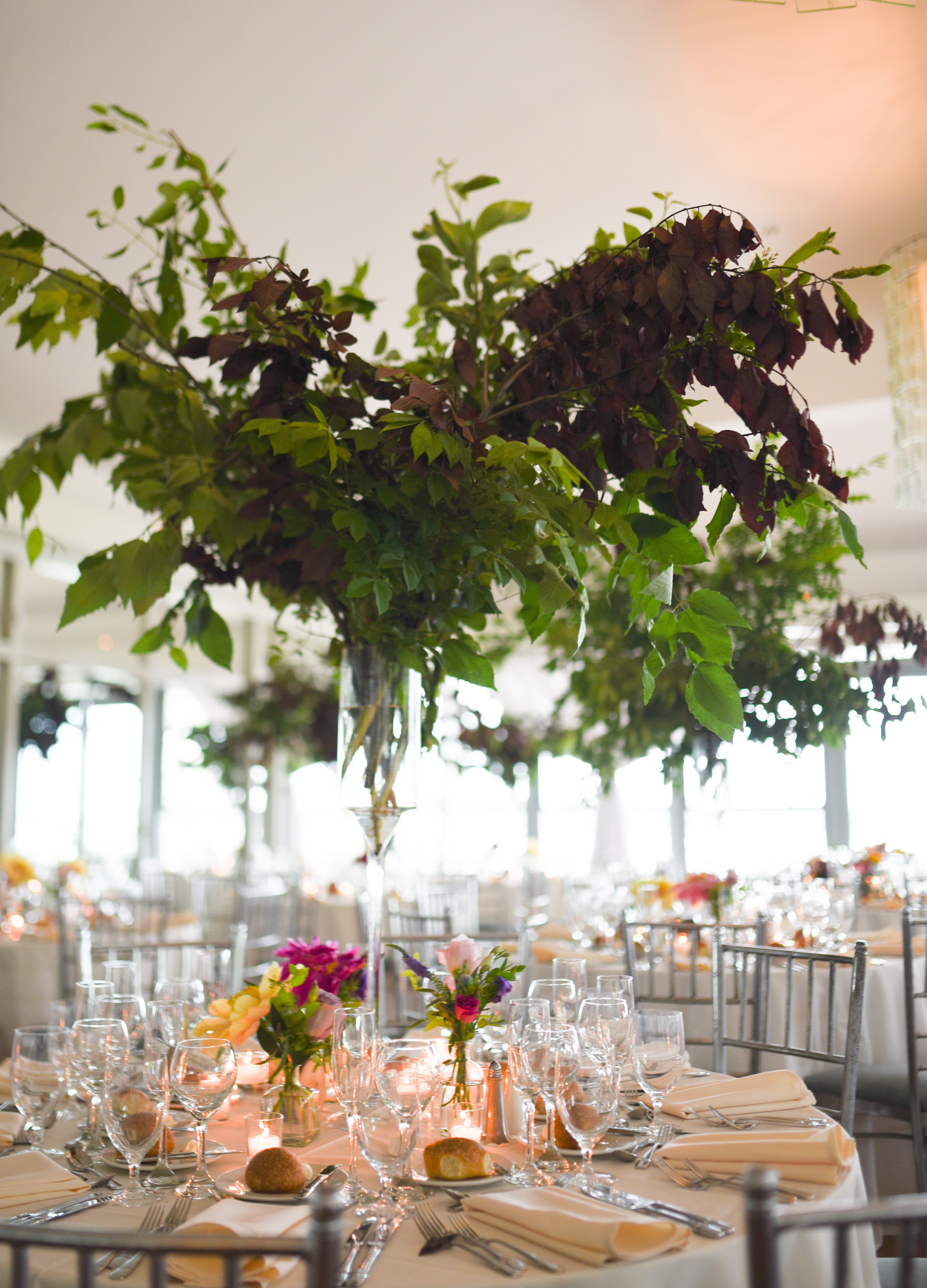 Tall Greenery Centerpiece Featuring Seasonal Branches Bases