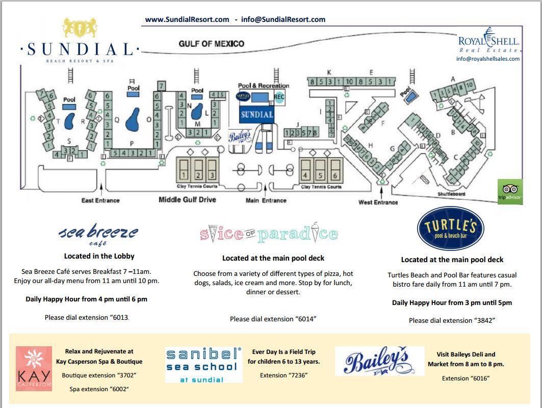 Property Maps Sanibel Island Map Sundial Beach Resort