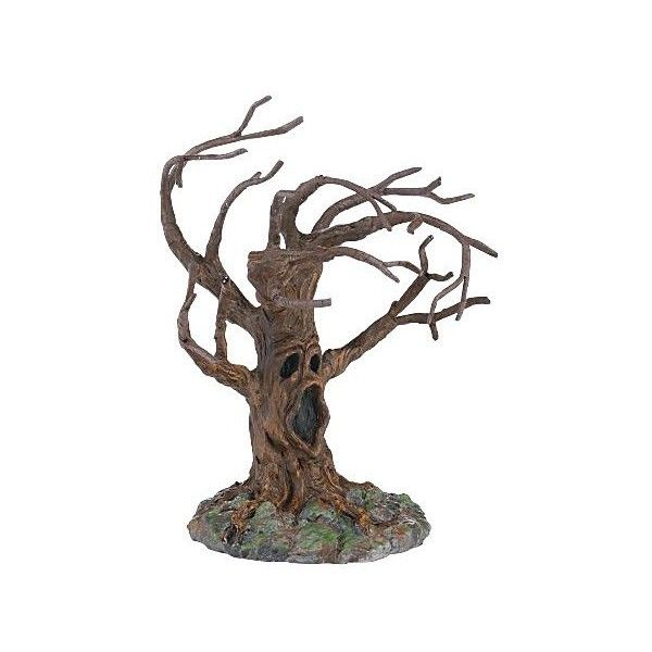 """Department 56 Halloween Village Collection Stormy Night Tree, 5-1/21"""" ($18) ❤ liked on Polyvore featuring home, home decor, holiday decorations, halloween, decor, fall, filler, department 56, holiday decor and halloween home decor"""