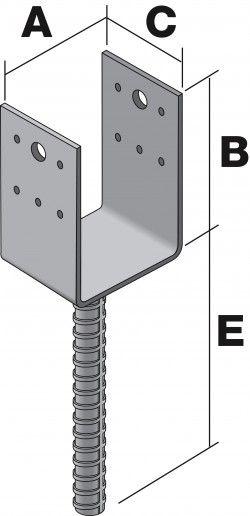 Anclaje hierro para columna frente y porch pinterest columnas hierro y construcci n - Pilares de hierro ...