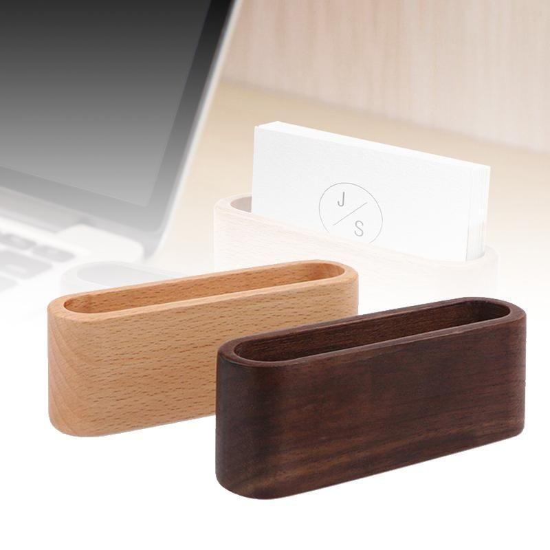 Mayitr desktop name card organizer wooden box business card holder mayitr desktop name card organizer wooden box business card holder wood credit card id card storage colourmoves