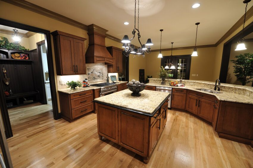 101 custom kitchen design ideas pictures wood floor kitchen espresso kitchen cabinets on kitchen remodel dark floors id=18112