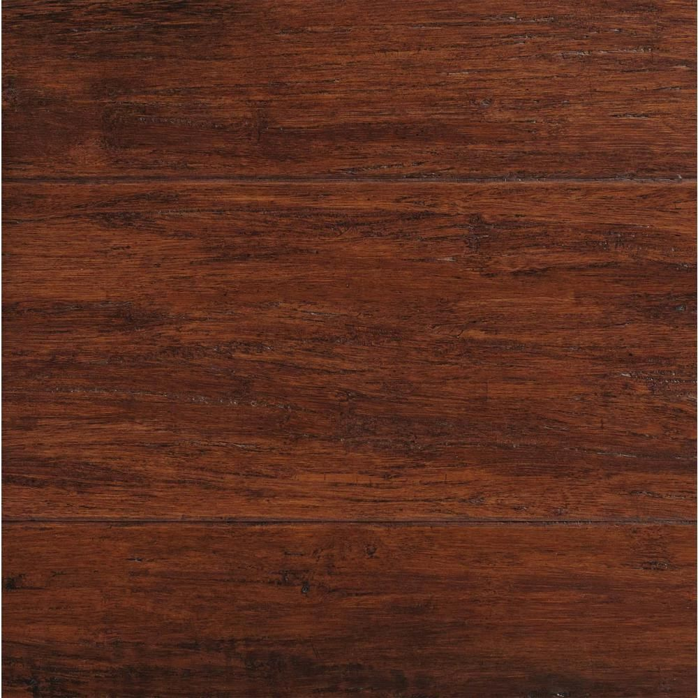 Home Decorators Collection Hand Scraped Strand Woven Brown 1 2 In T X 5 1 8 In W X 72 7 8 In L Solid Bamboo Flooring Yy10011 Bamboo Wood Flooring Wood Laminate Flooring Bamboo Laminate Flooring