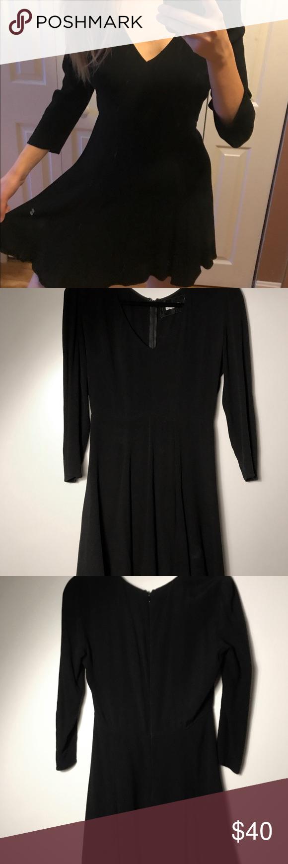 Reformation black long sleeve flare skater dress my posh picks