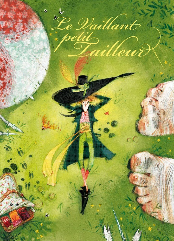 "Nathalie Ragondet illustration for ""The Brave Little Tailor""."