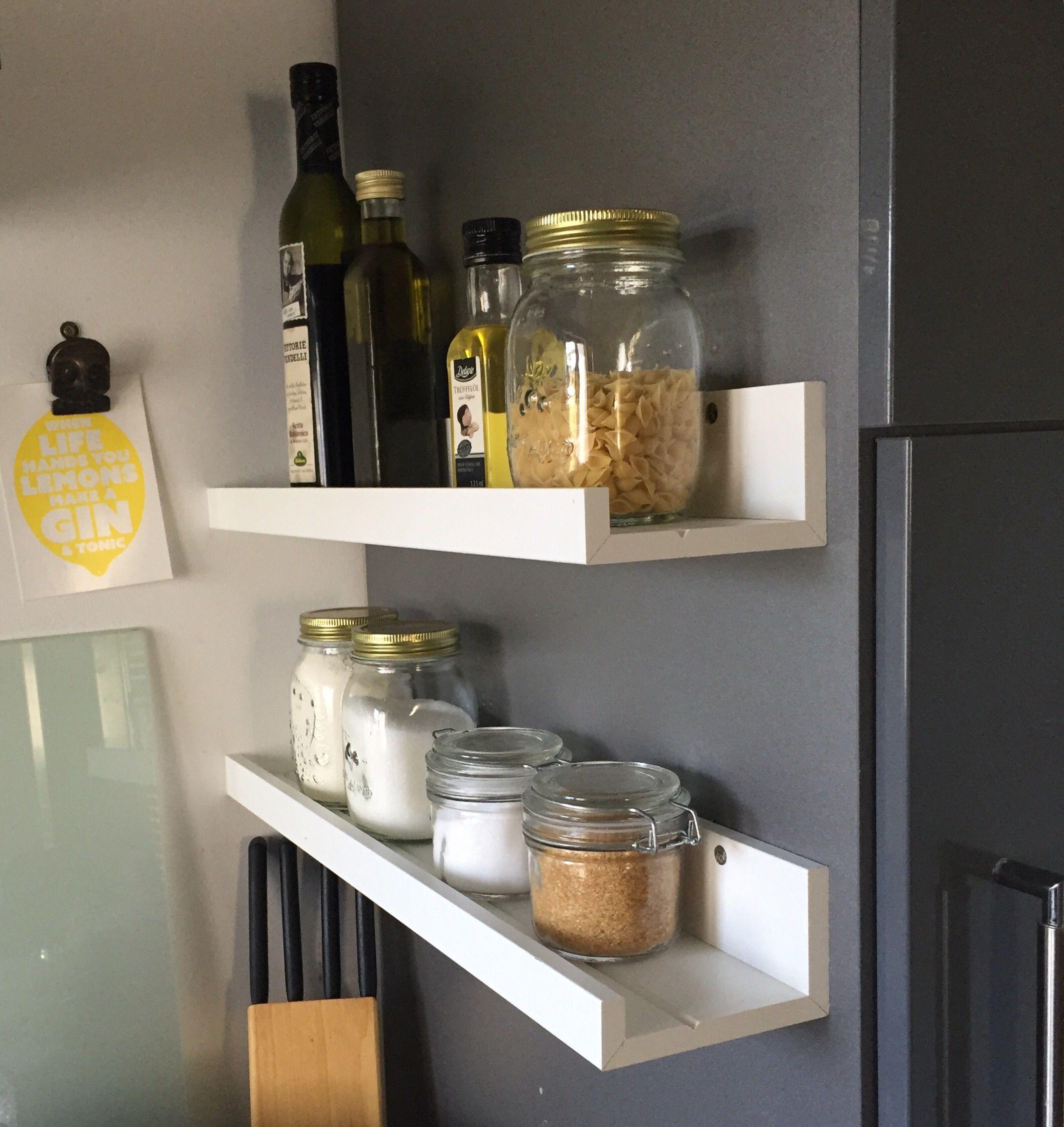 Ikea Hack Gewürzregal aus Bildleiste Mosslanda | Küche | Pinterest ...