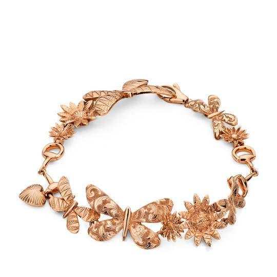 Gucci 2016 Flora bracelet in rose gold