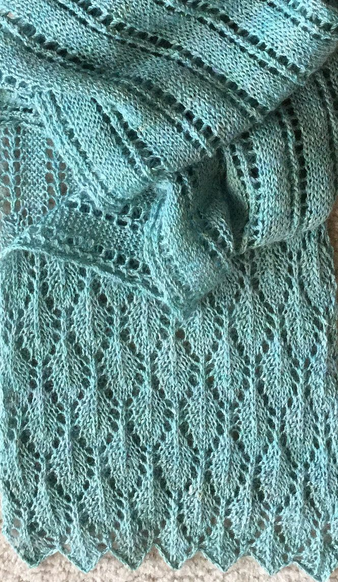 Free Knitting Pattern for Summer Stream Scarf - This versatile lace ...