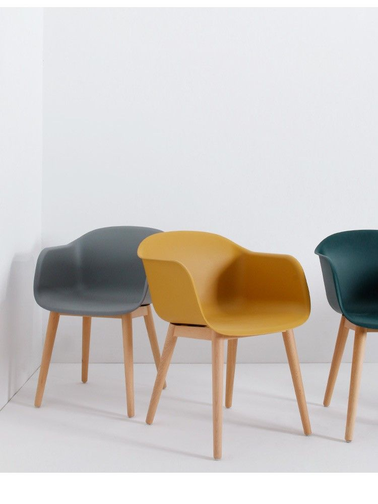 Dining Chair Sleek Minimalist Modern Plastic Chair Tea Shop Dessert Shop  Cafe Chair Restaurant Dinner Chair   Taobao