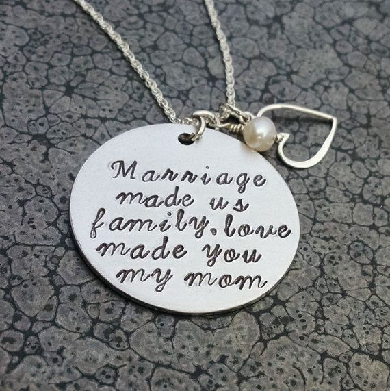 Gift For Mother In Law Handmade Jewelry For Mother In Law Marriage Made Us Family Love Made You My Mom Mom Wedding Gift Mother In Law Gifts Gifts For Mom