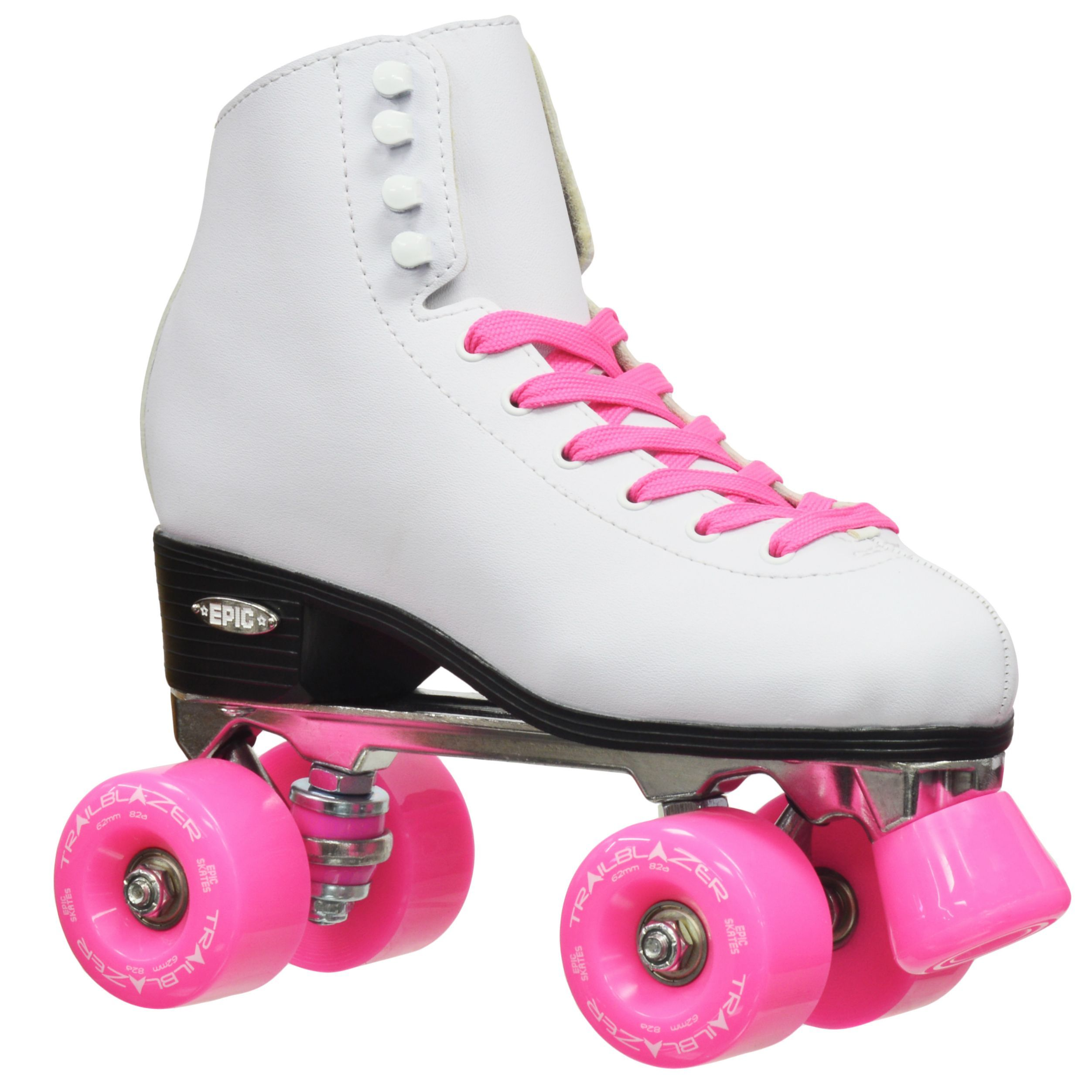 Roller skates under 20 dollars - Epic Classic Women S High Top Quad Roller Skates White With Pink Wheels By Epic Skates