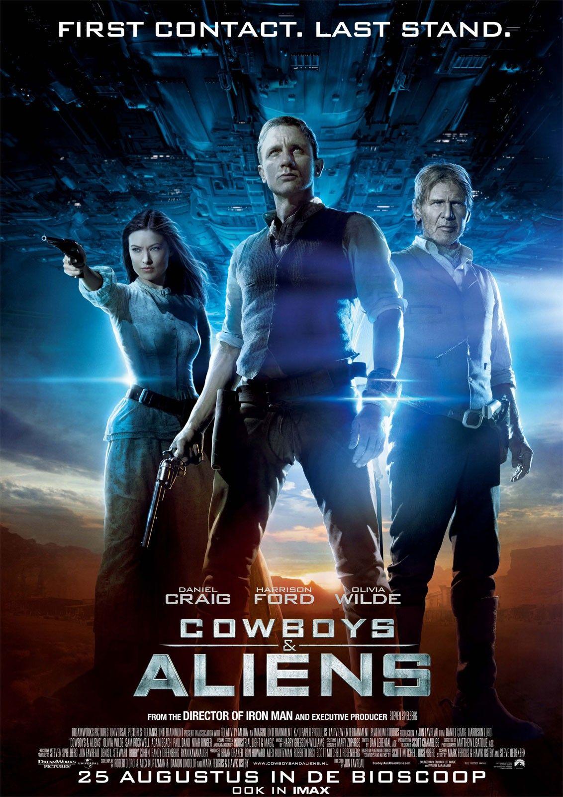 Cowboy and Aliens 2011 Alien movie poster, Aliens