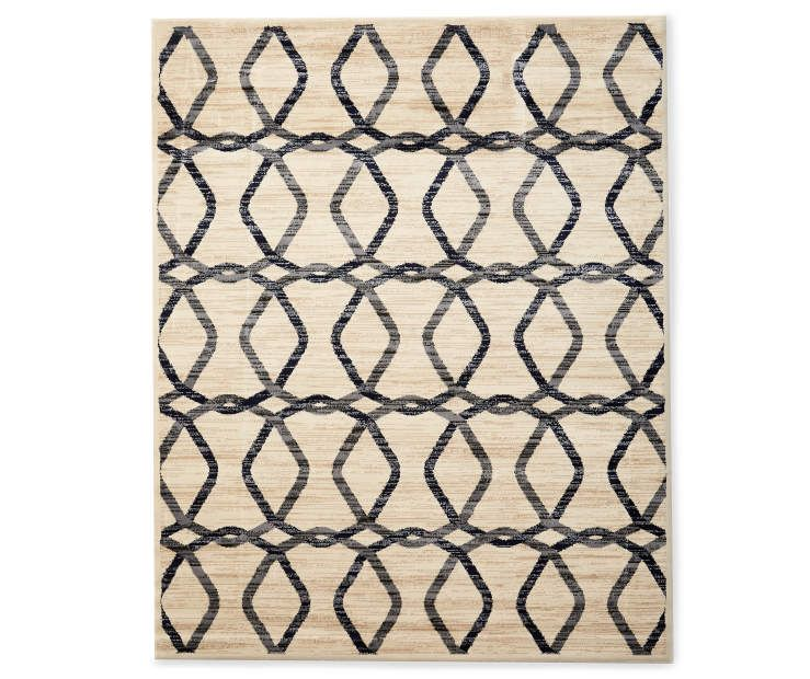 Living Colors Tello Gray Beige Ogee Area Rug 6 7 X 8 6 At Big Lots Area Rugs Rugs Chic Area Rug