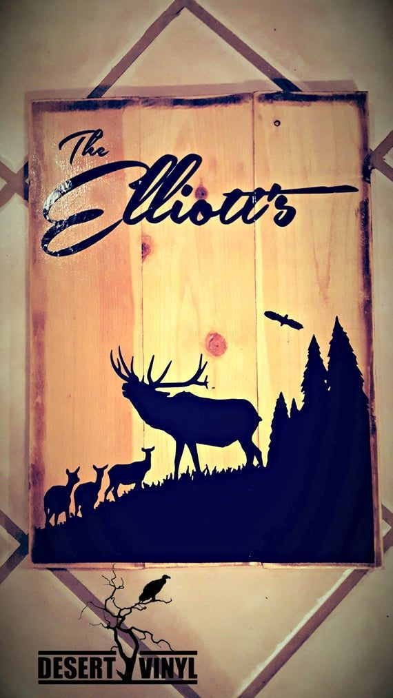 Last name wood sign,landscape sign,destressed,gift,hanging,family,cabin #pictureplacemeant