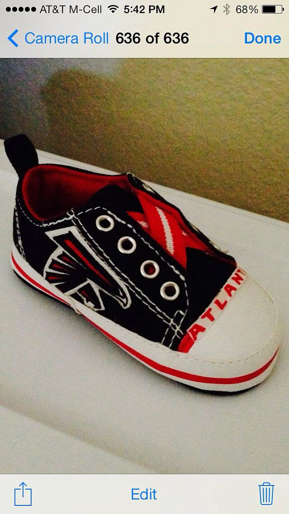 brand new df0ee 3aac8 Atl falcons baby shoes | Little Boy :) | Atlanta falcons ...