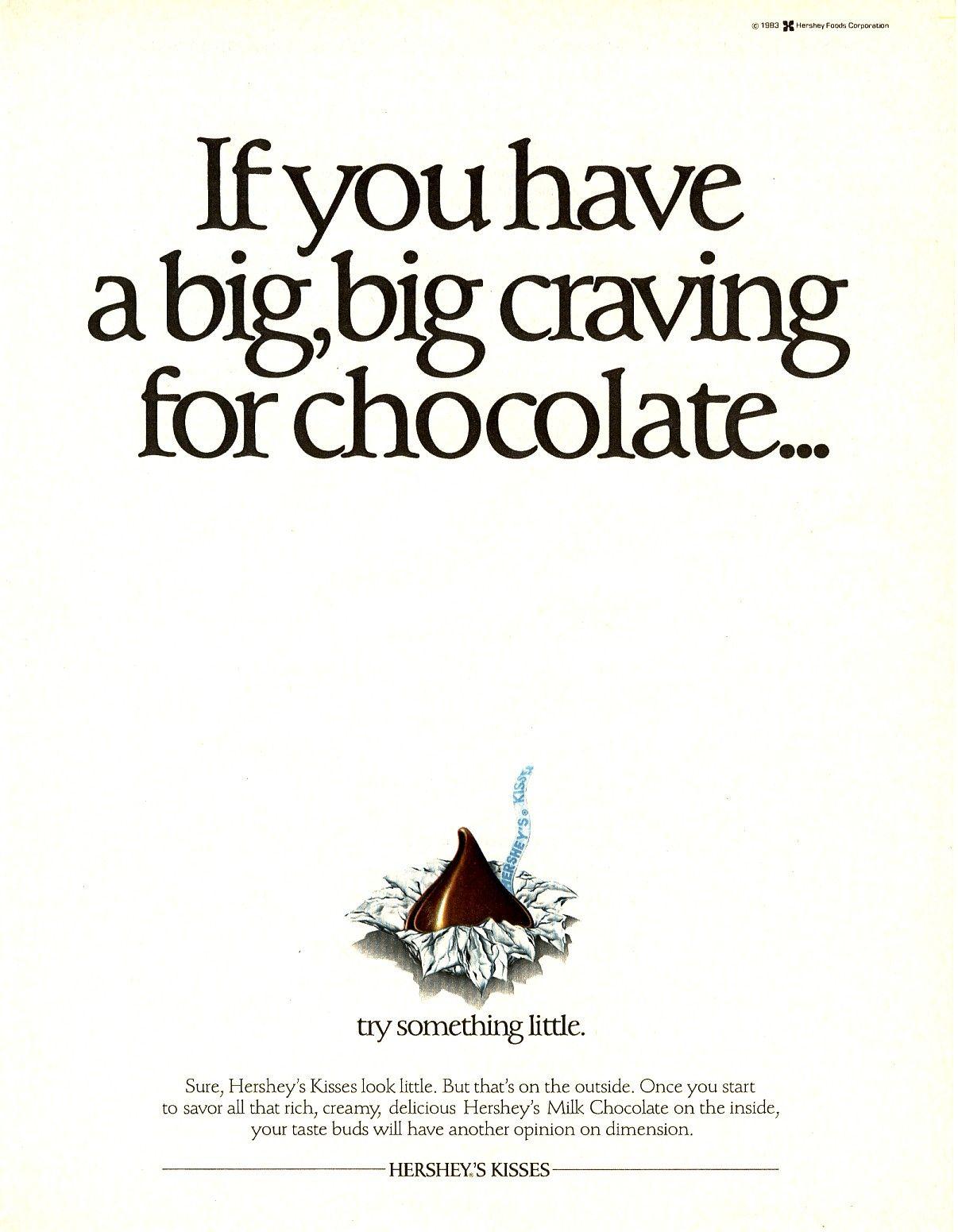 Hershey\'s Chocolate Kisses 1983 ad | 1980\'s Advertisements ...