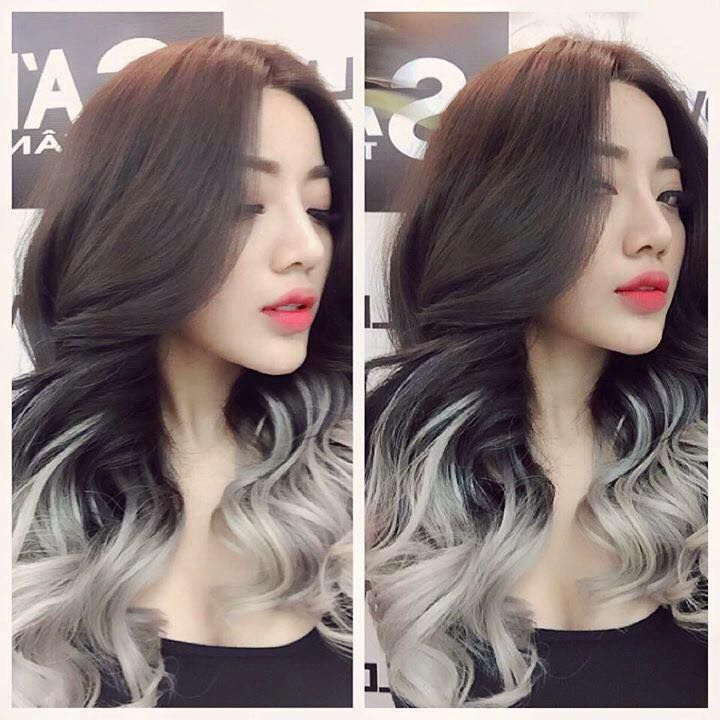 Dark Brown Hair with Silver Ends   Hairstyles   Pinterest   Brown ...