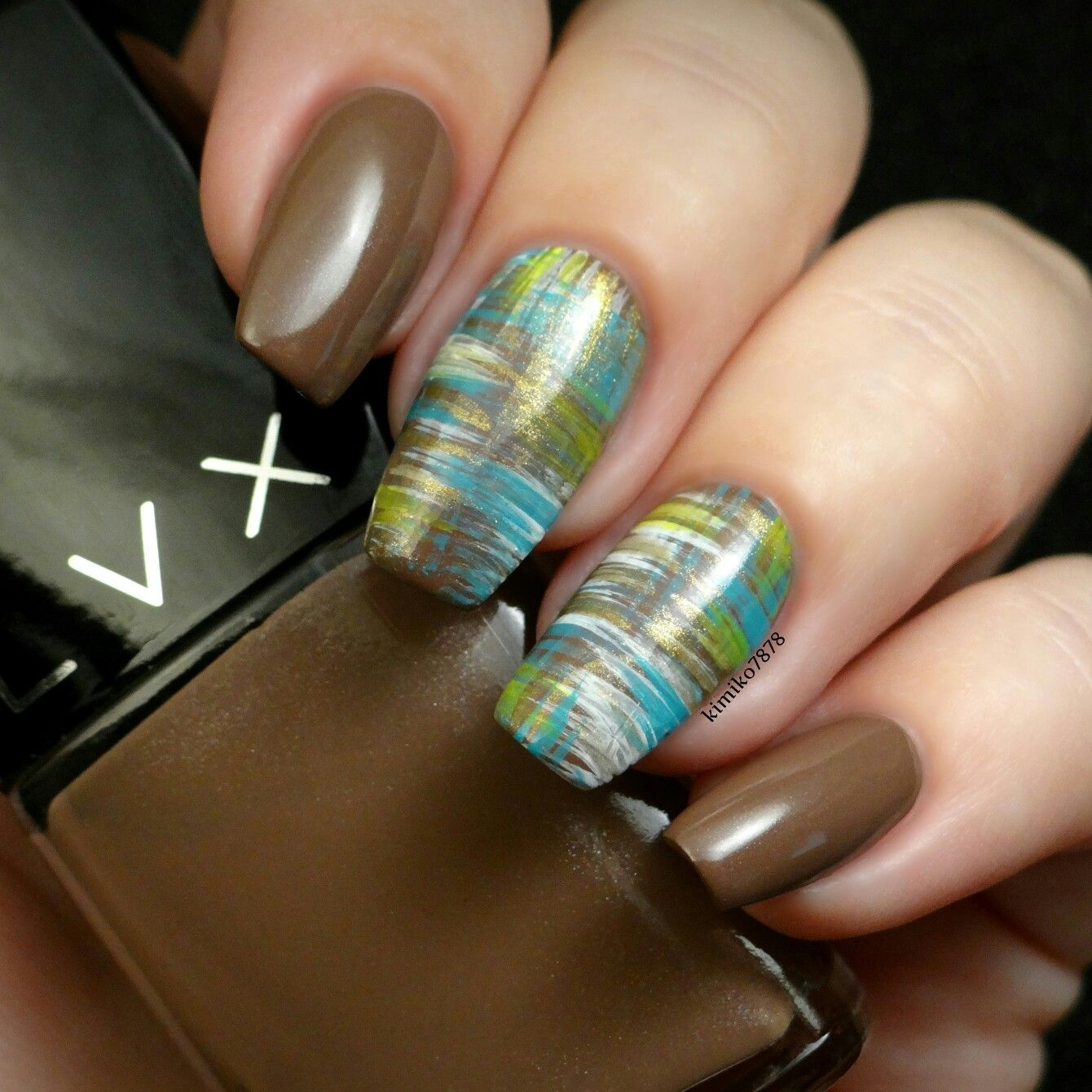 Shoplvx polish in Satal and I used a Mitty Burns Fan brush and ...