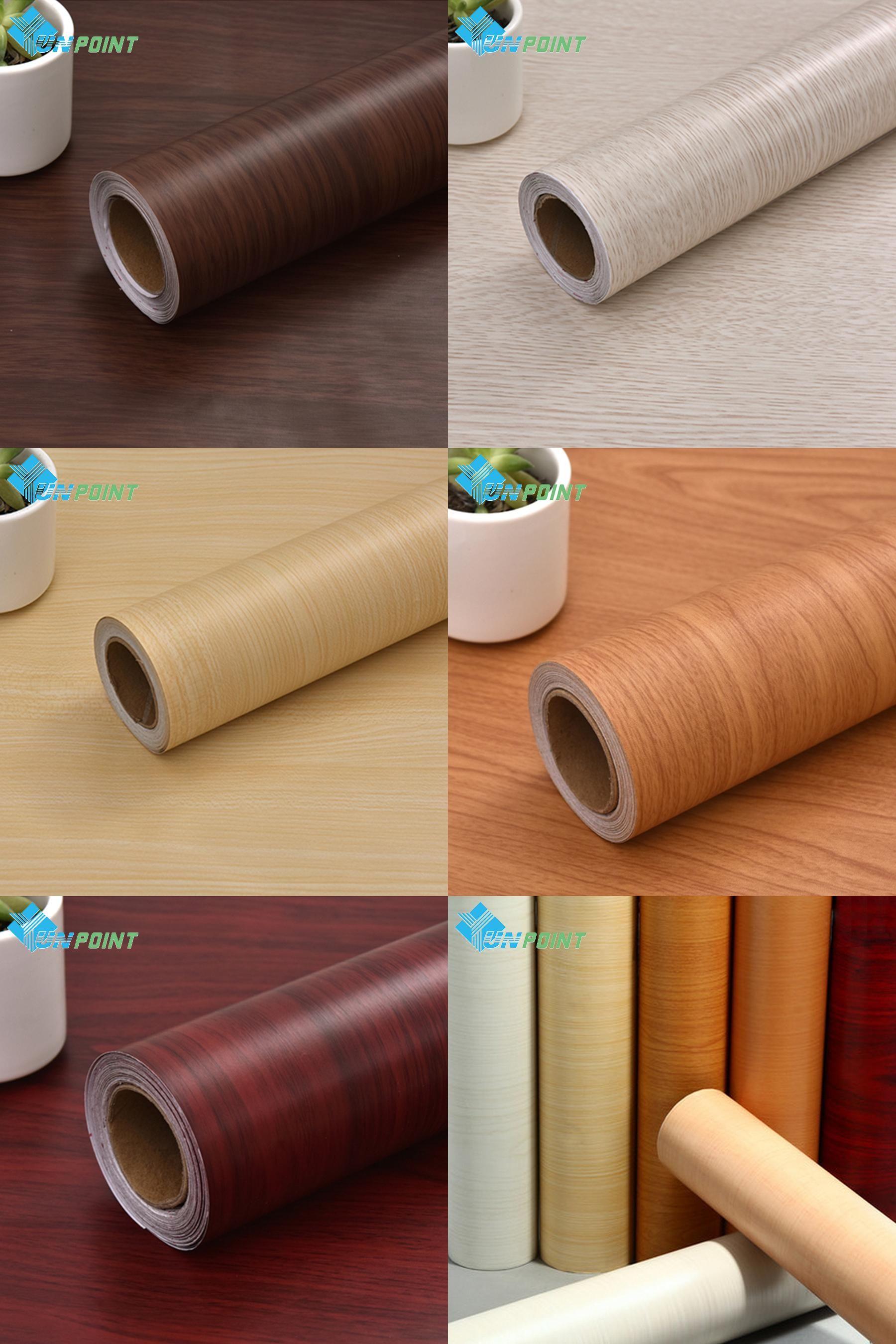 [Visit to Buy] 5M DIY Decorative Film Wood Grain PVC