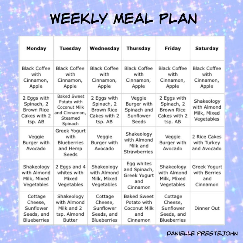 strict healthy diet plan