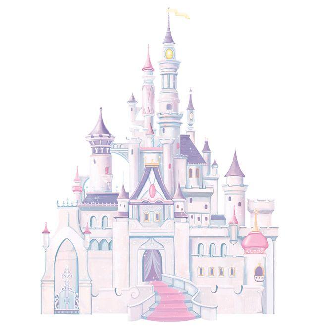 Appliqu mural autocollant ch teau disney sweet home - Peinture princesse disney ...