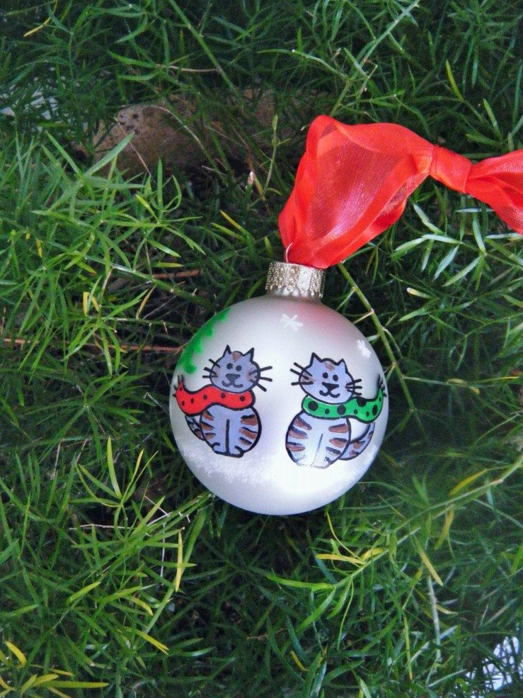 Grey Cats Ornament Personalized by BrushStrokeOrnaments on ...