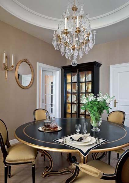 Traditional Home Decor Style For Large Apartment Decorating In Moscow Also  Rh Pinterest