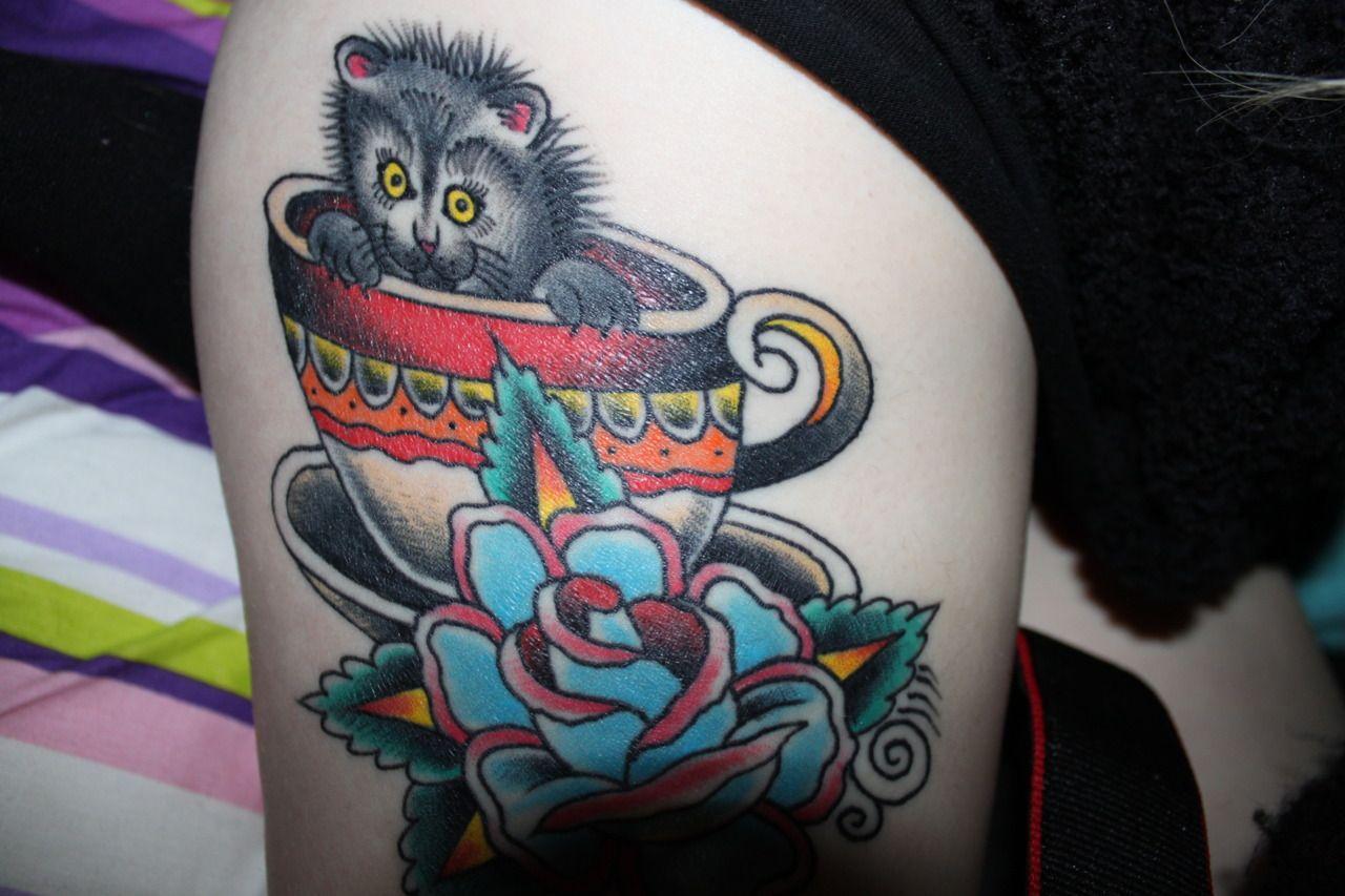 Kitten In A Teacup Tattoos Ink Tea Cups
