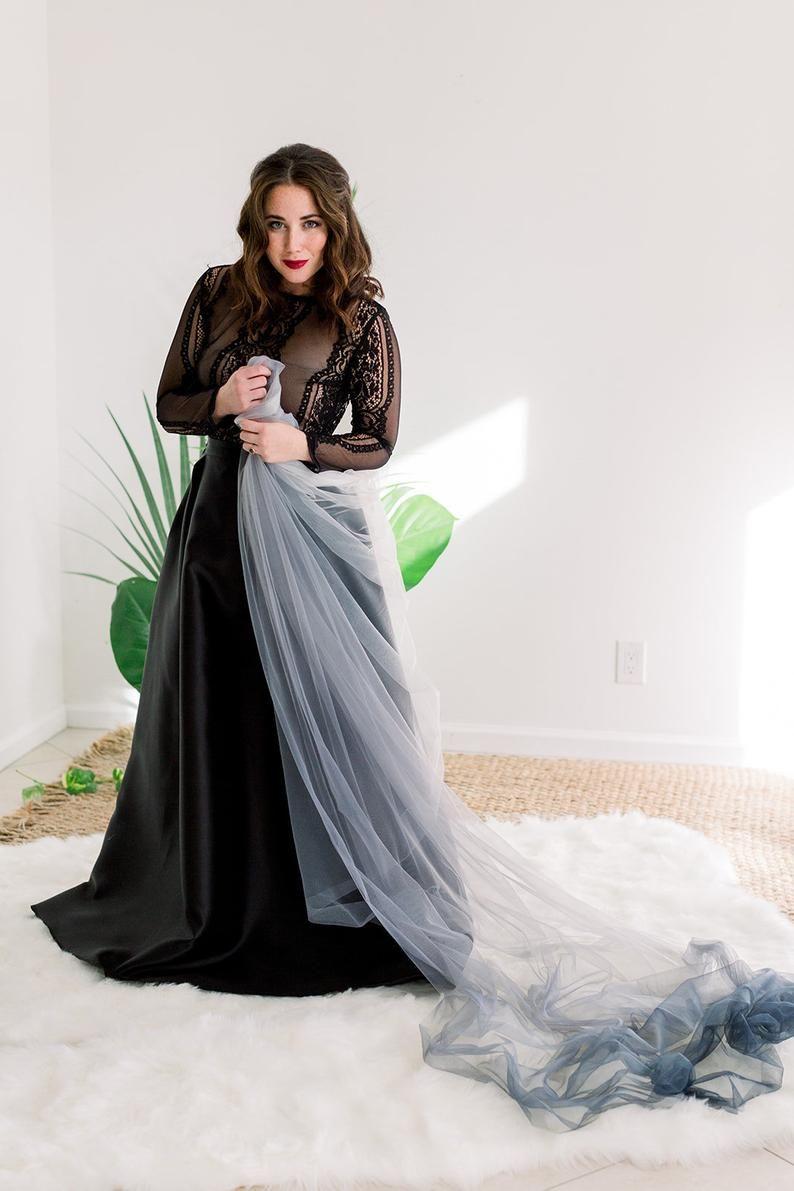 Gothic Wedding Inspiration Moody Wedding Inspiration Black Wedding Gown Black Veil Gray Veil Ombre Black Wedding Gowns Black Wedding Dresses Black Wedding [ 1191 x 794 Pixel ]