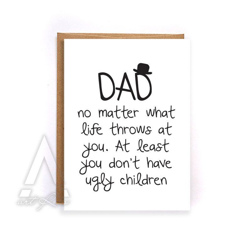 Dad Birthday Card From Kids Thank You Funny Greeting Cards