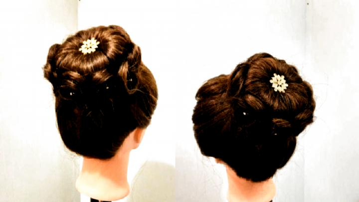 Beautiful Bun Hairstyle with Trick : Easy Trick Bun Hairstyle  : Easy Hairstyles  High Bun Hairstyle